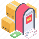 courier delivery, letter box, logistic delivery, mail delivery services, mailbox icon