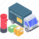 courier delivery, delivery truck, delivery van, logistic delivery, mail delivery services icon