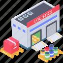 depository, stockroom, storehouse, storeroom, warehouse icon