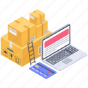delivery services, logistic services, online consignment, online order, online shipment icon