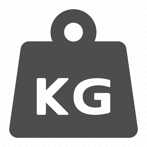 delivery, kg, kilogram, weight icon