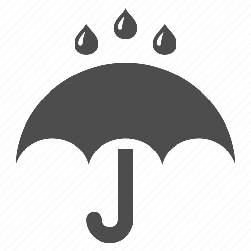 drops, rain, raining, umbrella, weather icon