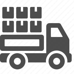 box, courier, delivery, logistics, package, transportation, truck icon