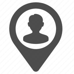 avatar, delivery, gps, marker, person, user icon