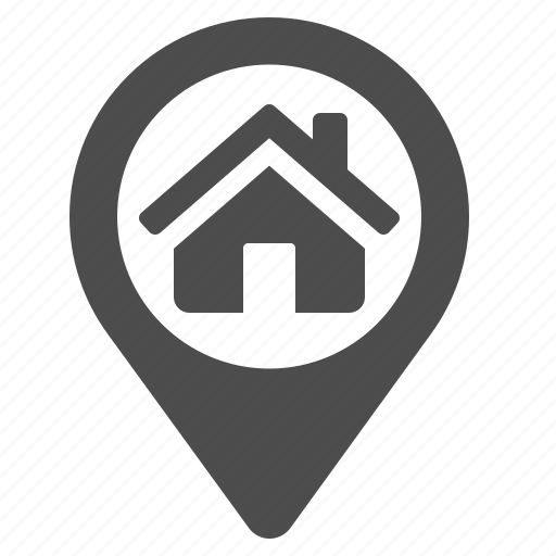 delivery, gps, home, house, marker, real estate icon