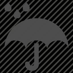 delivery, drop, rain, umbrella, weather icon