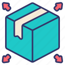 delivery, distribution, logistics, order, packaging, product, shipping icon