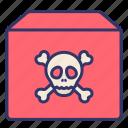 caution, goods, hazardous, logistics, order, product, warning