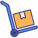 delivery, logistics, luggage, order, shipping, storage, wheel icon