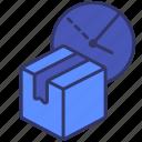 box, carton, delivery, logistics, order, punctual, time icon