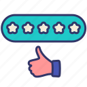 business, customer, feedback, marketing, rating, service, stars icon