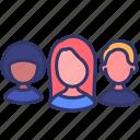 customer, demand, human, logistics, people, person, supply icon