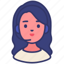 avatar, conversation, information, operator, person, support, woman icon
