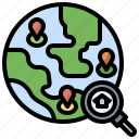 and, destination, geolocation, location, map, maps icon
