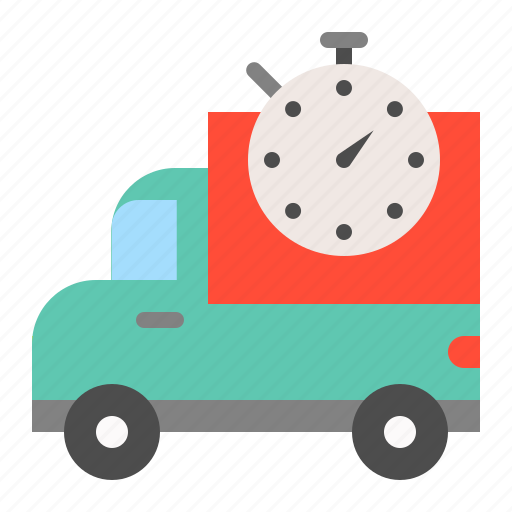 delivery, delivery time, logistic, shipping, transport, transportation icon