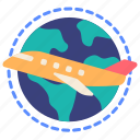 airplane, delivery, global, international, logistics, shipping, worldwide icon