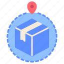 delivery, destination, logistics, navigation, order, packaging, shipping icon