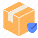 delivery, guarantee, order, packaging, protect, safety, shipping icon