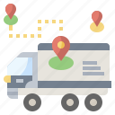and, delivery, location, package, shipping, tracking icon