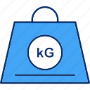 logistics, measure, weight, kg icon