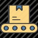 belt, box, conveyor, logistics