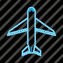 airplane, plane, transport, travel