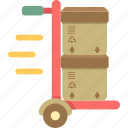 delivery, free, free shipping, shipping, trolley icon