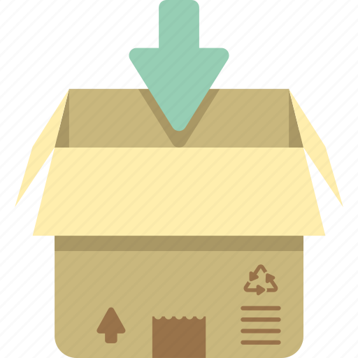 box, in, packaging, parcel, parcel in icon