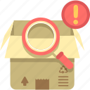inspection, packaging, parcel, parcel inspection icon