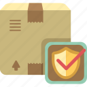 guard, insurance, package, parcel, safety, shield icon