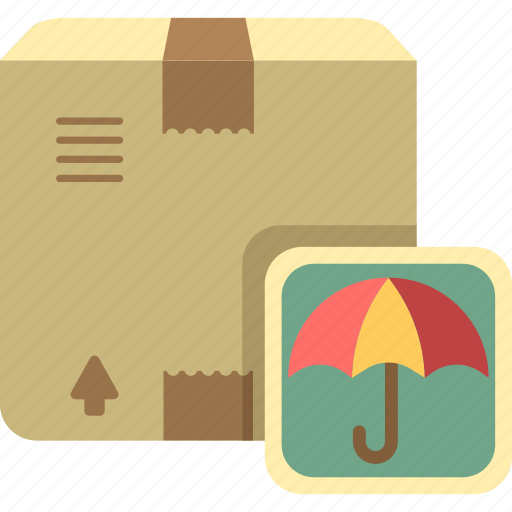 insurance, package, parcel, umbrella icon