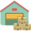 storage, storage unit, warehouse icon