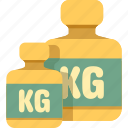 kg, kilogram, weight icon
