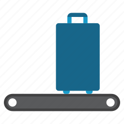 baggage, conveyor, luggage, process, shipping, transport, transportation icon