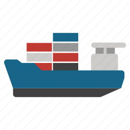 cargo, container, delivery, sea ship, shipment, shipping, trasnport icon