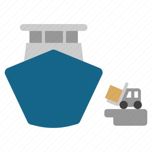 cargo, delivery, harbor, sea port, ship loading, shipping, transportation icon
