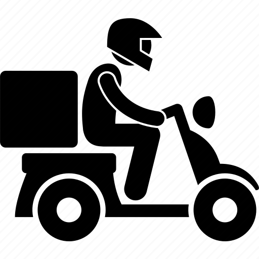 delivery, motorbike, motorcycle, rider, shipping icon