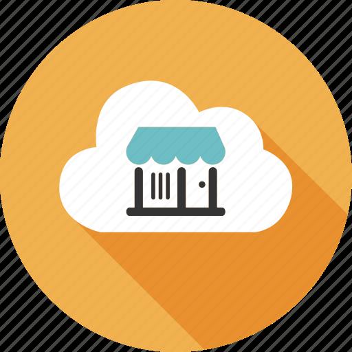 bag, cloud, computing, ecommerce, market, online, shopping icon