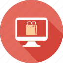 bag, ecommerce, market, online, screen, shopping icon