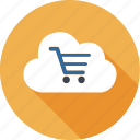 bag, basket, caddy, cloud, computing, market, shopping icon