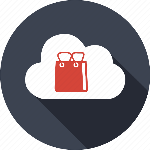 bag, basket, cloud, computing, market, sale, shopping icon