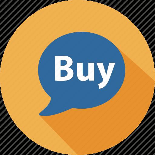 business, buy, commerce, dialog, mall, shopping, speak icon