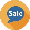 business, commerce, dialog, mall, sale, shopping, speak icon