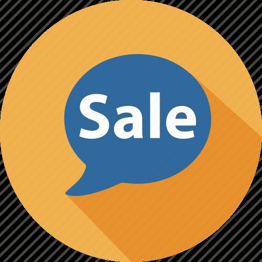 business, commerce, dialog, mall, sale, shopping, speak icon
