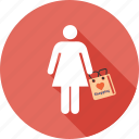 bag, business, girl, mall, people, shopper, shopping icon