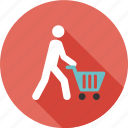 business, caddy, mall, market, people, shopper, shopping icon
