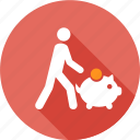 market, money, people, person, pig, save, shopping, guardar icon