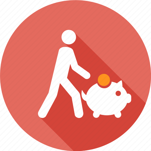guardar, market, money, people, person, pig, save, shopping icon