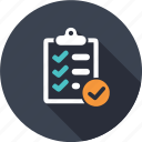 business, chebox, information, list, market, ok, shopping icon
