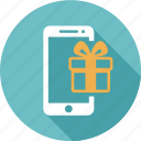 cloud, computing, gift, online, sale, shopping, smartphone icon